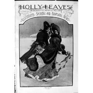 Man Lady Ice Skating Romance Ediswan Adelphi Hotel
