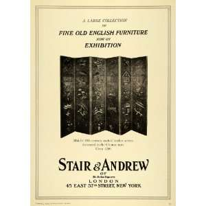 1929 Ad Old English Furniture Exhibition Stair Andrew London Antique