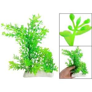 Como Fish Tank Plastic Green Water Grass Ceramic Base