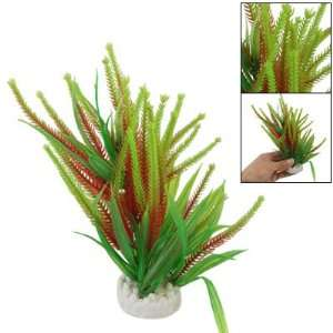 Como Fish Tank Decor Red Green Plastic Water Plant w
