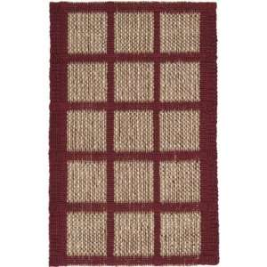 CTJ 2015 Area Rug   8 x 106   Red, Natural, Tan