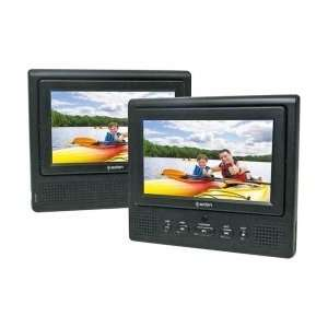 7 Dual Widescreen Portable DVD Player  Players