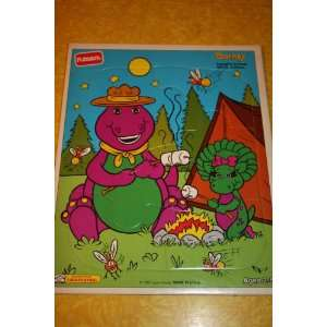 : Barney and Baby Bop Camping Puzzle (6 Puzzle Pieces): Toys & Games