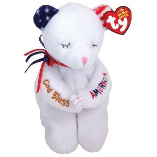 Stripes Patriotic Teddy Bear   MWMT Ty Beanie Babies