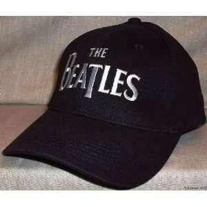 Beatles Classic Logo Flex Fit Black Baseball Cap HAT