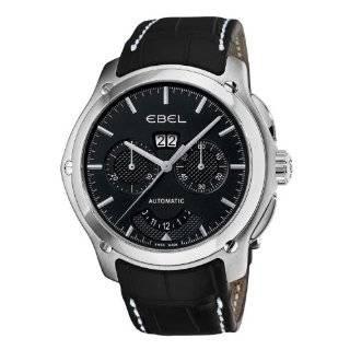 TimeTech mens round black strap watch Watches