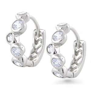 Bling Jewelry Sterling Silver Bubble Hoop Earrings Jewelry