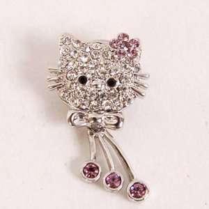 Hello Kitty Diamante Brooch Pin Rhinestones Charm  Toys & Games