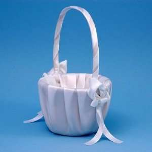 Calla Lily Satin Flower Girl Basket  White or Ivory