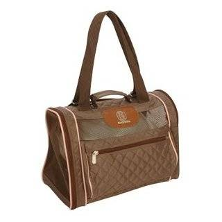 Amelia Collection Pet Dog Cat Carrier Duffle Black tan