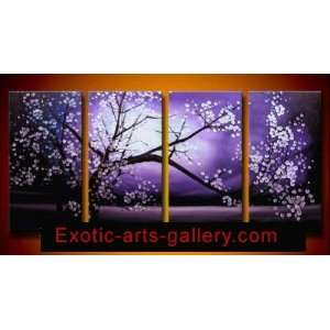 Chinese Flower Painting Cherry Blossom Painting Feng Shui