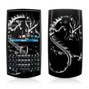 Chrome Dragon Design Protective Skin Decal Sticker for Nokia