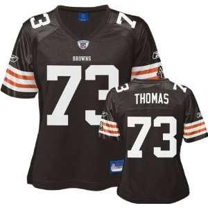 Joe Thomas Reebok Home Replica Cleveland Browns Womens Jersey