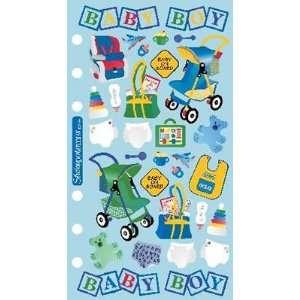 Stickopotamus Binder Stickers Baby Boy Arts, Crafts