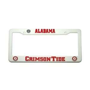 Crimson Tide Plastic License Plate Frame Ncaa