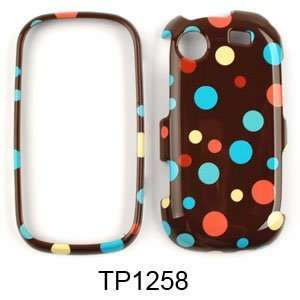 Messager Touch R630 Little Tiny Polka Dots on Brown Hard Case/Cover