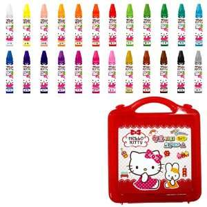 Sanrio Hello Kitty 24 Color Crayons Drawing Art Set Automotive