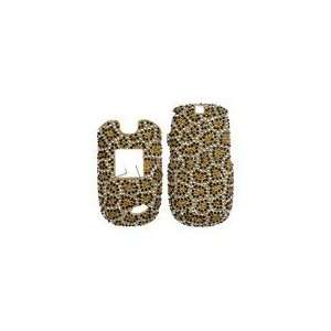 Rhinestone Bling Gold Leopard Design Cell Phones & Accessories