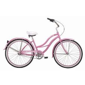 Ladies 3 Speed Beach Cruiser Bicycle   Tahiti NX3   White