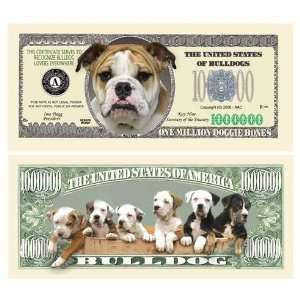 Bulldog Million Dollar Bill   Case Pack 100 SKU PAS413362