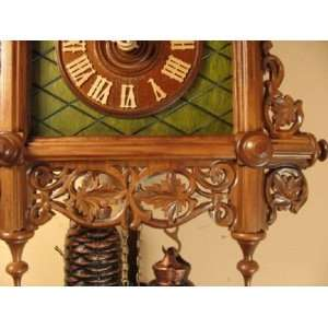 Cuckoo Clock Deep Case, Bahnhausle, Wooden Inlays Model