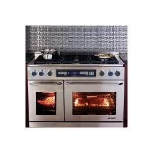 Dacor epicure 48 dual fuel double oven range erd48sch for Dacor 48 dual fuel range