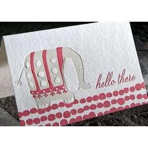 ellie hello letterpress boxed note card set Health
