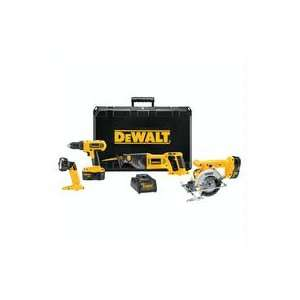 DEWALT DW4CPK2 Heavy Duty 18 Volt Compact 4 Tool Combo Kit