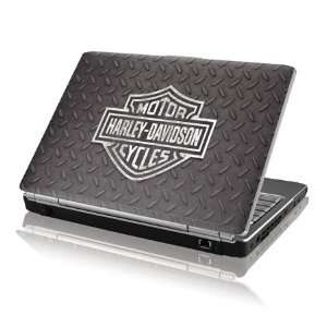 Skinit Black and White Harley Davidson Logo on Diamond Plate