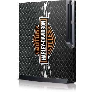 Skinit Harley Davidson Standard Logo w/Flames on Diamond Plate