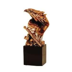 Bronze Statue   American Flag Eagle