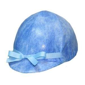 Equestrian Riding Helmet Cover   Ice Blue  Sports