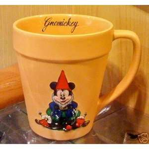 *FREE $25 GIFT* Mickey Mouse Garden Gnome Flower Pot Mug Cup