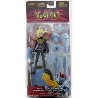 Yu Gi Oh! Battle Armor YuGi Figure into Blue Eyes White