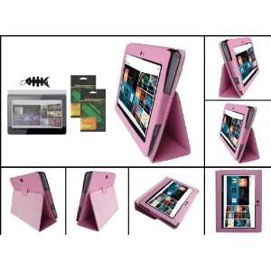 iShoppingdeals   Pink PU Leather Case Cover Folio With Built In Stand
