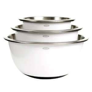 OXO Good Grips Stainless Steel Mixing Bowl Set 3pc