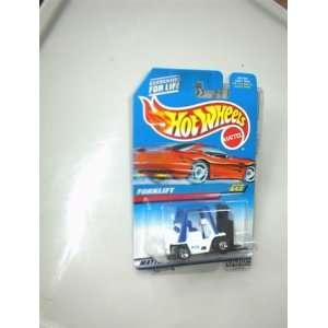 Mattel Hot Wheels 1997 FORKLIFT White, Black/Blue 164 Scale Die Cast