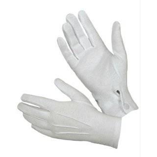 Carolina Amato Ladies Cotton Wrist Length Gloves   White Clothing