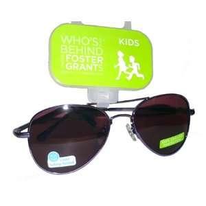 Foster Grant Kids KALEIGH Aviator Sunglasses   100% UVA