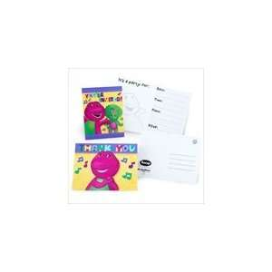Barney Invitations and Thank You Notes Toys & Games