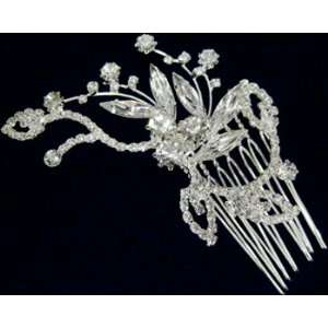 Flower Rhinestone Hair Comb 2328 Beauty