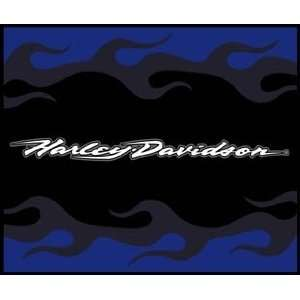 Blanket/Throw Harley Davidson Script Flames