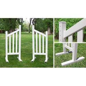 6 Angle Picket Wing Standard   Horse Jumps: Sports & Outdoors