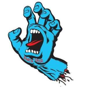 SANTA CRUZ Screaming Hand Sticker Blue 3 inch  Kitchen