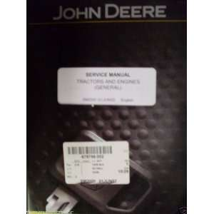 John Deere Tractors and Engines OEM Service Manual John Deere Books