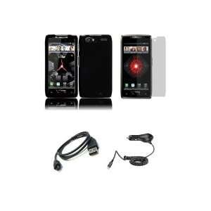 RAZR MAXX (Verizon) Premium Combo Pack   Black Hard Shield Case Cover