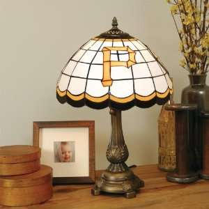 PITTSBURGH PIRATES 20 Hand Cut Stained Glass TIFFANY TABLE LAMP with