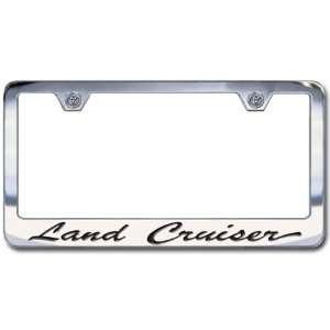 Toyota Land Cruiser Chrome License Plate Frame, Script
