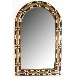 Moroccan Bone Mirror   Extra Large, ROUND TOP