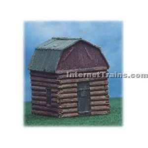Tech Studios HO Scale Pre Assembled Small Log Cabin Kit: Toys & Games